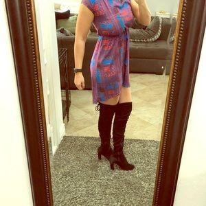 Asymmetrical semi casual dress